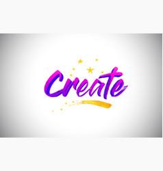Create purple violet word text with handwritten vector