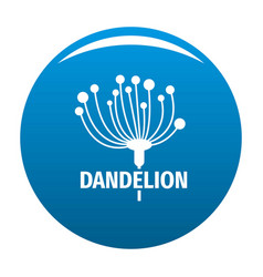 Cute dandelion logo icon blue vector