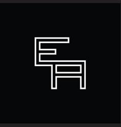 Ea logo monogram with line style design template vector