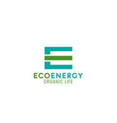 eco energy project icon vector image