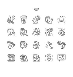 Epilator well-crafted thin line icons vector