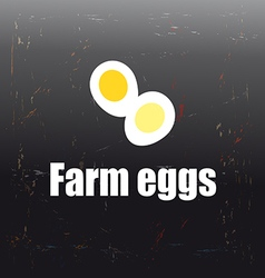 Farm eggs vector