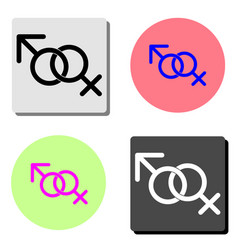female and male gender flat icon vector image