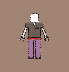 flat shading style icon kids toy robot vector image