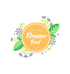 floral frame original design elegant sign vector image