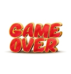 Game over icon for game design interface vector image