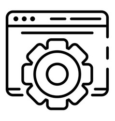 gear site vlog icon outline style vector image