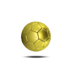 gold soccer ball isolated on white background vector image