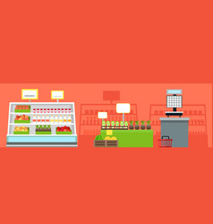 grocery shop interior concept vector image