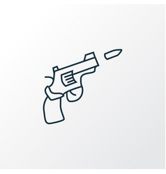 gun icon line symbol premium quality isolated vector image