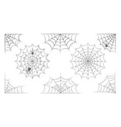 halloween spiderweb and cobweb set isolated vector image