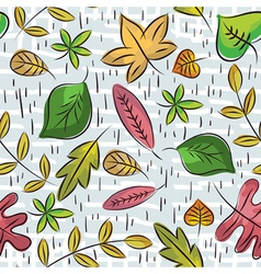 Hand draw leafs suitable wrapping paper vector
