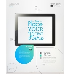 Hands holding a tablet on white background vector image