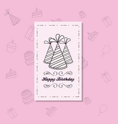 happy birthday card icon vector image