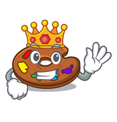 king palette mascot cartoon style vector image