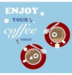 Love Design Coffee Texture Cup Flower Art vector