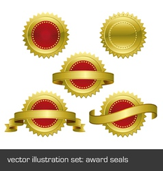 medallions scrolls ribbons vector image