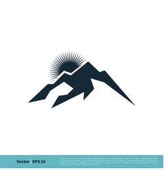 mountain icon logo template design eps 10 vector image