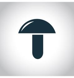 Mushroom flat icon vector