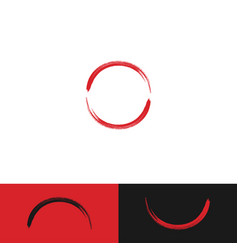 of circle brush graphic template vector image