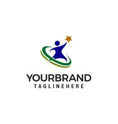 People star logo design concept template vector