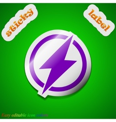 Photo flash icon sign Symbol chic colored sticky vector image