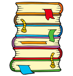 pile of old books vector image