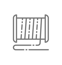Plastic thread reel for 3d printer line icon vector
