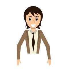 portrait man male character smile vector image