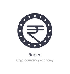 Rupee icon isolated rupee icon from vector