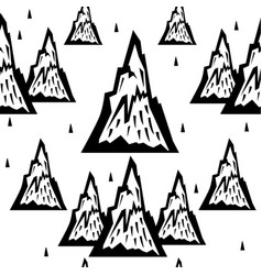 seamless pattern of mountains vector image