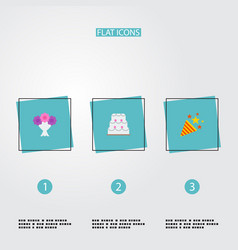 Set of engagement icons flat style symbols with vector