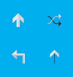 set of simple indicator icons vector image vector image