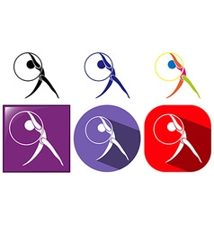 Sport icon design for floor exercise with hoop vector