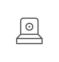 Spray button line outline icon vector