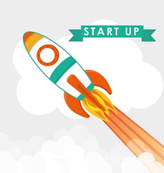 Start up business design vector image