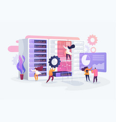 system administration concept vector image