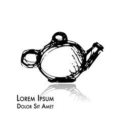 teapot doodle sketch for your design vector image