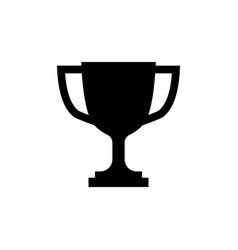 trophy cup icon in flat style simple winner symbol vector image