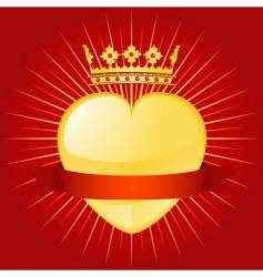 valentine crown and banner vector image