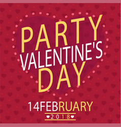 Valentine day party 14 feb image vector
