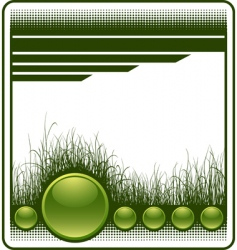 Web background with grass vector