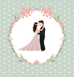 Wedding couple bride and groom wedding couple vector