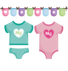 baby clothing design vector image
