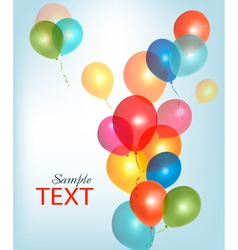 background with colorful ballons vector image