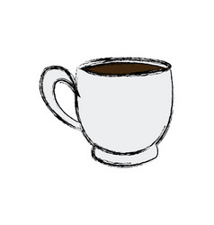 coffee cup beverage fresh morning vector image vector image