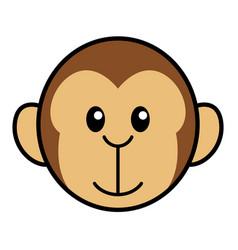 simple cartoon of a cute monkey vector image vector image