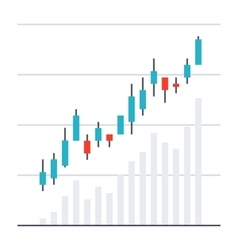Stock Market Chart vector image vector image