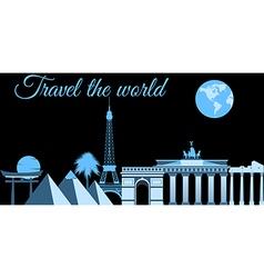 Travel the world world landmarks travel vector