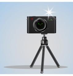 Abstract digital photo camera on small tripod vector image